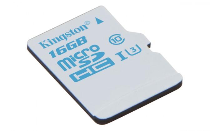 Micro SDHC Kingston Action Card Micro SDHC 16GB UHS-I U3 SDCAC/16GBSP