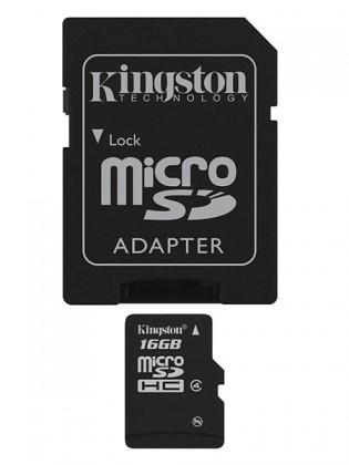 Micro SDHC Kingston Micro SDHC 16GB Class 4 + adaptér - SDC4/16GB