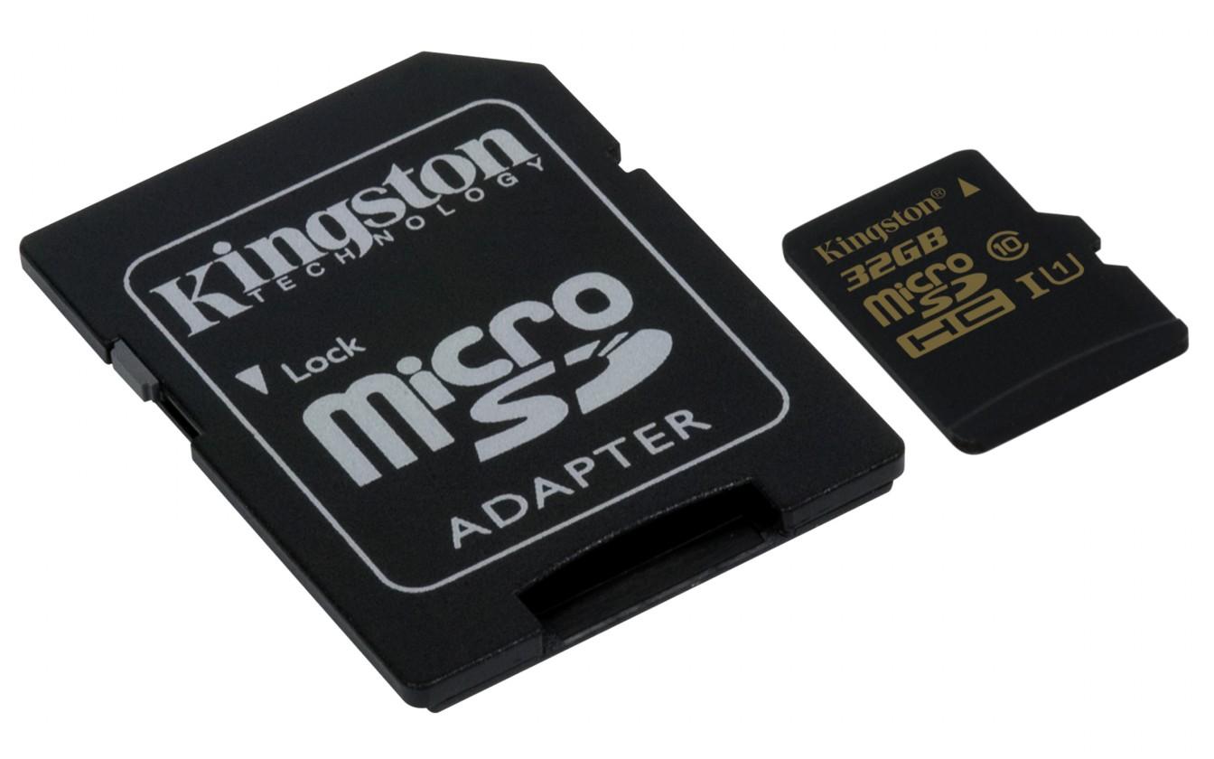 Micro SDHC Kingston Micro SDHC 32GB class 10 UHS-I + adaptér - SDCA10/32GB