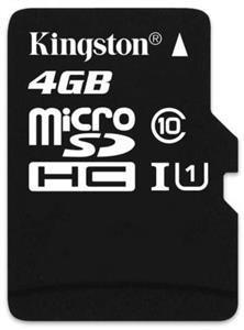 Micro SDHC Kingston micro SDHC 4GB Class 10