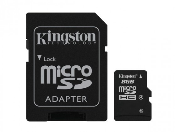 Micro SDHC Kingston Micro SDHC 8GB Class 4 + adaptér - SDC4/8GB