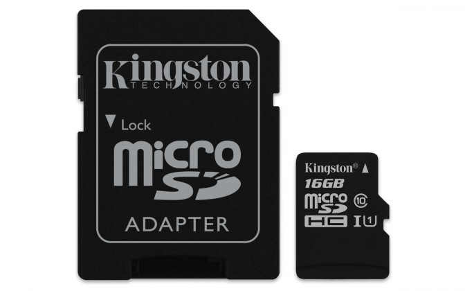 Micro SDHC Kingston Micro SDHC Canvas Select 16GB + SD adaptér  SDCS/16GB