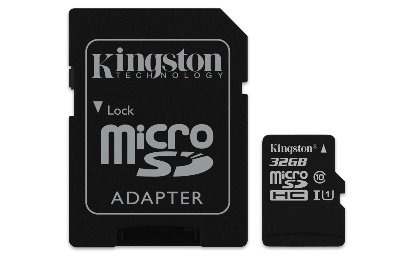Micro SDHC Kingston Micro SDHC Canvas Select 32GB + SD adaptér  SDCS/32GB