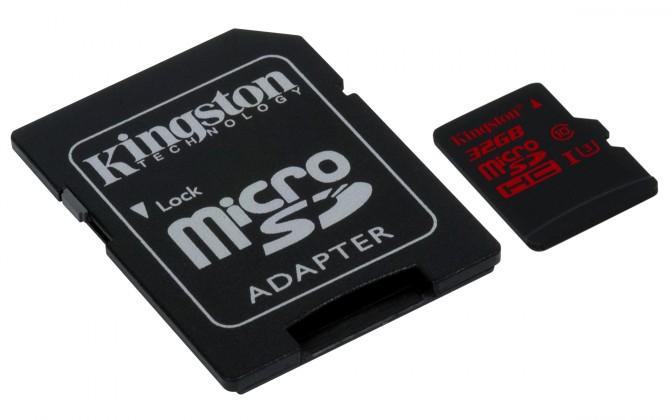 Micro SDHC Kingston MicroSDHC 32GB UHS-I U3 (90MB/s) (SDCA3/32GB)