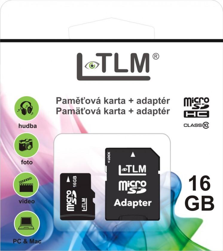 Micro SDHC LTLM MICRO SDHC 16GB Class 10 + SD adaptér