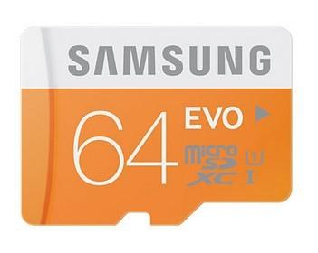 Micro SDHC Samsung Micro SDXC EVO 64GB Class 10 + adaptér POUŽITÝ