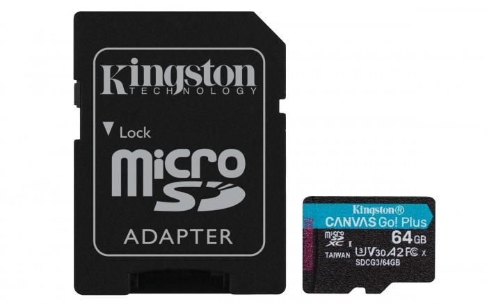 Micro SDXC karta Kingston Canvas Go 64GB (SDCG3/64GB)