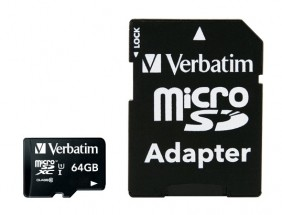 Micro SDXC karta Verbatim 64GB (44084)