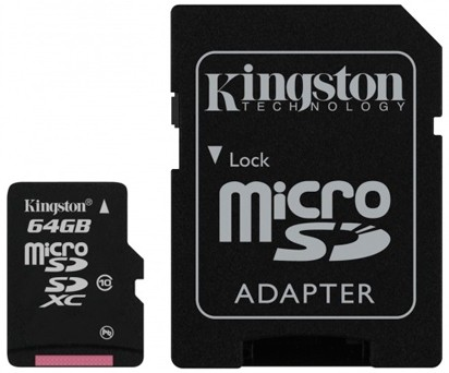 Micro SDXC Kingston Micro SDXC 64GB Class 10 + adaptér - SDCX10/64GB