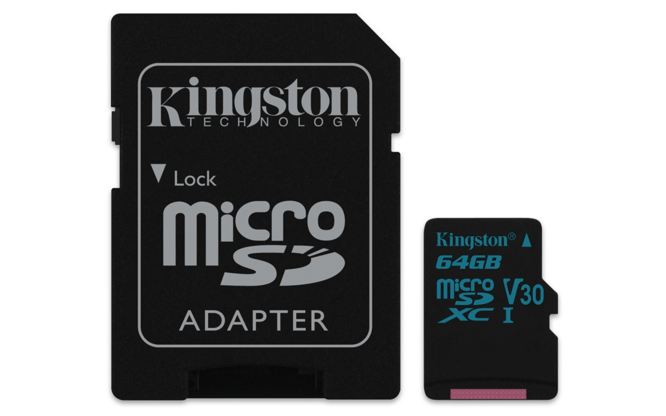 Micro SDXC Kingston Micro SDXC Canvas Go! 64GB + SD adaptér  SDCG2/64GB