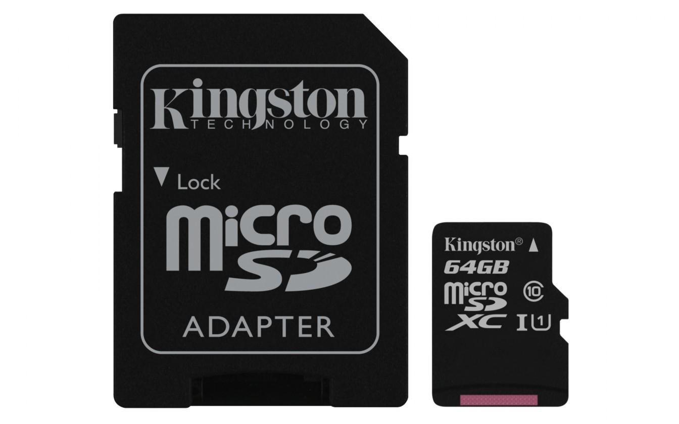 Micro SDXC Kingston Micro SDXC Canvas Select 64GB + SD adaptér SDCS/64GB