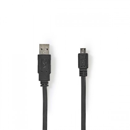 Micro USB káble Kábel Nedis Micro USB na USB, 1m, čierna
