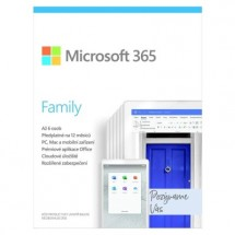 Microsoft 365 Family P6 Mac/Win, 1 Rok, CZ