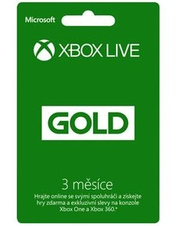 Microsoft Xbox LIVE Gold - zlaté členstvo 3 mesiace (52-00263)