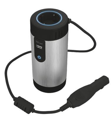 Mikrofón Autoadaptér 230V Power Socket 150W TRUST