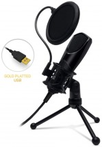 Mikrofón Connect IT YouMic CMI-8001-BK, USB a POP filter