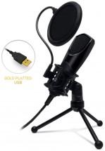 Mikrofón Connect IT YouMic CMI-8001-BK, USB a POP filter