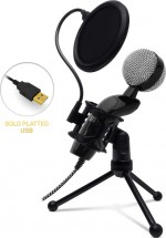 Mikrofón Connect IT YouMic CMI-8008-BK Plus, USB a POP filter