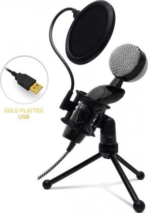 Mikrofón Mikrofón Connect IT YouMic CMI-8008-BK Plus, USB a POP filter