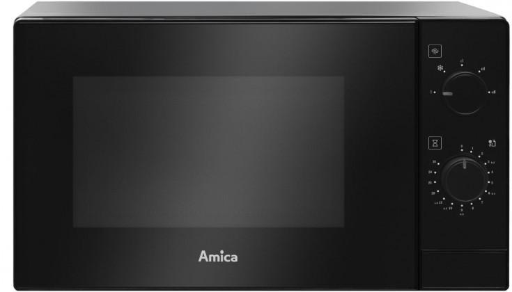 Mikrovlnná rúra Volně stojící mikrovlnná trouba Amica AMMF20M1B, 700 W, černá