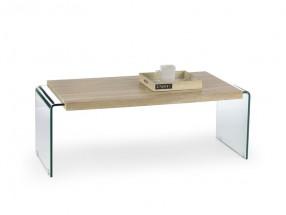 Miura - Konferenčný stolík (dub sonoma, transparentná)
