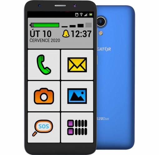 Mobilný telefón ALIGATOR S5520 SENIOR 1GB/16GB, modrý + DARČEK Antivir Bitdefender pre Android v hodnote 11,90 Eur