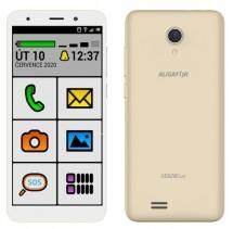 Mobilný telefón ALIGATOR S5520 SENIOR 1GB/16GB, zlatý POUŽITÉ, NE
