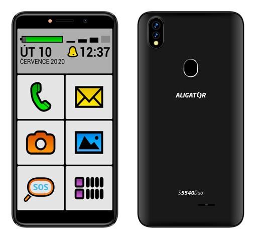 Mobilný telefón ALIGATOR S5540KS 2GB/32GB, Kids+Senior, čierny PO
