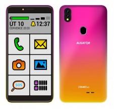 Mobilný telefón Aligator S5540KS senior 2 GB/32 GB, ružovo-zlatý