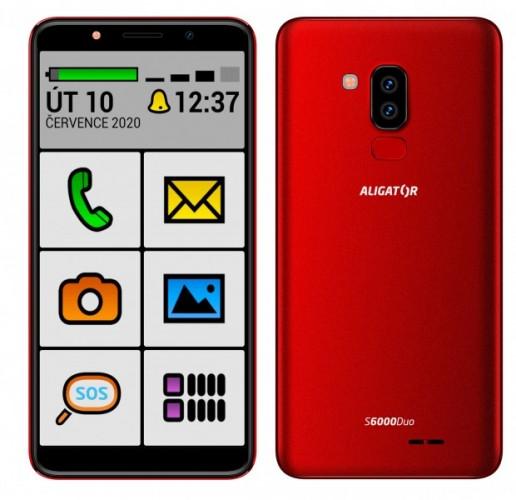 Mobilný telefón Aligator S6000 senior 1 GB/16 GB, červený