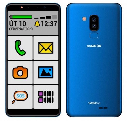 Mobilný telefón Aligator S6000 senior 1 GB/16 GB, modrý