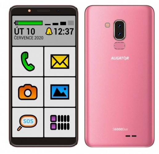 Mobilný telefón Aligator S6000 senior 1 GB/16 GB, ružový