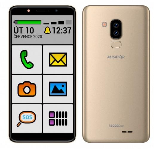 Mobilný telefón Aligator S6000 senior 1 GB/16 GB, zlatý