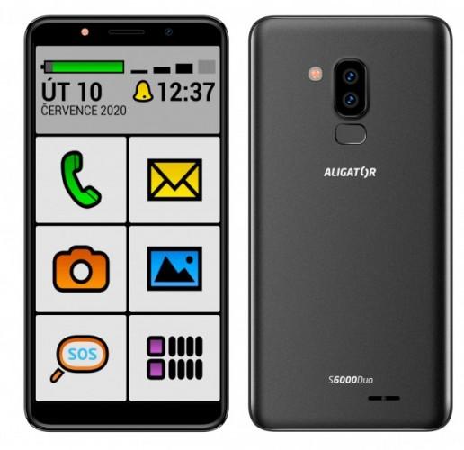 Mobilný telefón Aligator S6000S 1 GB/16 GB, čierny