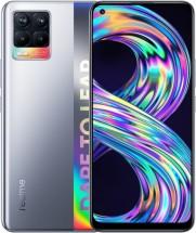 Mobilný telefón Realme 8 4 GB/64 GB, strieborný