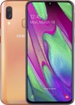 Mobilný telefón Samsung Galaxy A40 4GB/64GB, oranžová + Antivir ESET
