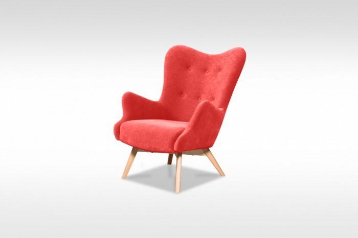 Moderné kreslo Glamour červená