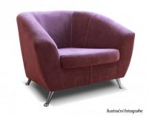 Moderné kreslo Lira fialová