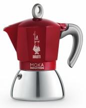 Moka kanvica Bialetti Moka Induction Red, 4 porcie