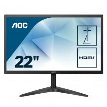 "Monitor AOC 22B1H, 21,5"", HDMI, 5ms, čierna + ZADARMO USB-C hub Olpran v hodnote 57 EUR"