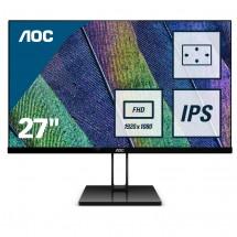 """Monitor AOC 27V2Q, 27"""", IPS, bezrámečkový, 75 Hz, čierny"""