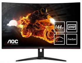 "Monitor AOC 32 ""QHD, LED, 144 Hz, 1 ms. CQ32G1 + ZADARMO USB-C hub Olpran v hodnote 57 EUR"