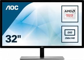 """Monitor AOC 32 """"QHD, LED, 75 Hz, 5 ms, Q3279VWFD8 + ZADARMO hub Olpran v hodnote 39 EUR"""