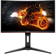 Monitor AOC C27G1, 27'', herný, prehnutý, FullHD, čierna + ZADARMO USB-C Hub Olpran v hodnote 19,9 EUR
