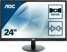 Monitor AOC M2470SWDA2, 23,6'', FullHD, LED, VGA, DVI, čierna + ZADARMO USB-C Hub Olpran v hodnote 19,9 EUR