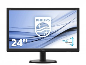 "Monitor Philips 24 ""Full HD, LED, 5ms, 240V5QDAB"