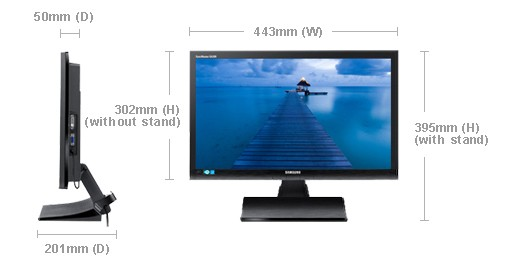 """Monitory 19"""" Samsung S19A200NW"""