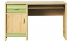Monza - pracovný stôl, CD 11 (višňa cornvall, zelená)
