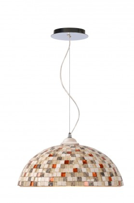Mozaik - stropné osvetlenie, 60W, E27 (taupe)