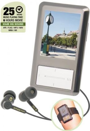 MP3, MP4 prehrávače,discmany  Emgeton CULT E8 4GB Coffee Silver